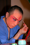 Asia, China, Beijing. Beijing Opera performer backstage