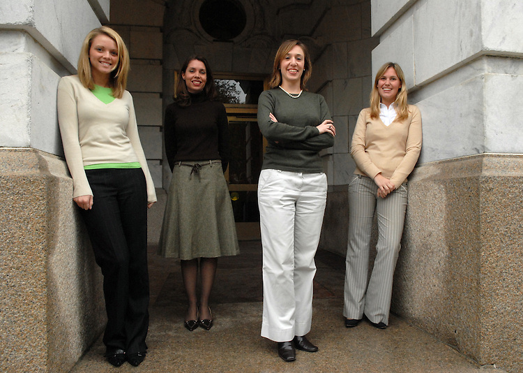 Climbers from left, Hayden Pruett, Sarah Boeving, Kathee Facchiano, Claire Price