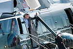 Canadian Prime Stephen Harper arrives at Dulles International Airport in Chantilly, Virginia, USA 18 May 2012 to be transported to Camp David for the upcoming G-8 Summit.