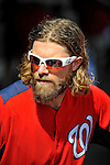 10 March 2012: Washington Nationals' outfielder Jayson Werth stands in the dugout during a Spring Training game against the New York Mets at Space Coast Stadium in Viera, Florida. The Nationals defeated the Mets 8-2 in Grapefruit League play. Mandatory Credit: Ed Wolfstein Photo