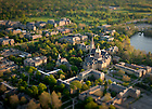 Campus Aerial with tilt-shift lens..Photo by Matt Cashore