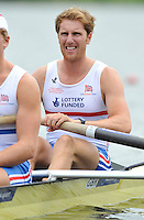 Amsterdam, NETHERLAND, GBR BM2-. Bow. George NASH.  2011 FISA U23 World Rowing Championships, {dow}, {date} [Mandatory credit:  Intersport Images].