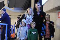 SCHAATSEN: CALGARY: Olympic Oval, 09-11-2013, Essent ISU World Cup, Tony de Jong-Knoll, Mark Knoll, ©foto Martin de Jong