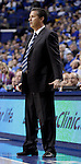 Coach John Calipari watches a play during the second half of the Men's Basketball game vs. Samford at the Rupp Arena in Lexington, Ky., on Tuesday, December 4th, 2012..