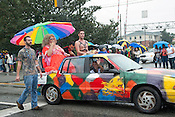 N.C. Pride Parade participants in Durham on Saturday, Sept. 29, 2012, at the corner of Main and Broad streets.
