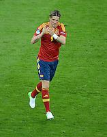 FUSSBALL  EUROPAMEISTERSCHAFT 2012   VORRUNDE Spanien - Irland                     14.06.2012 Fernando Torres (Spanien) bejubelt seinen Treffer