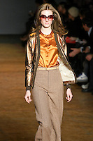 Jac walks runway in an outfit from the Marc by Marc Jacobs Fall/Winter 2011 collection, during New York Fashion Week, Fall 2011.