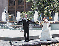 Natiliia and Artem's wedding in  Pittsburgh, PA on June 7, 2014. Artem and Nataliia wanted a photo tour of Pittsburgh. We photographed at the Mellon Institute, PP& G Place, Mellon Square Park, Union Station and up on Mount Washington. The ceremony and reception was held at The Willow Room, Belle Vernon, PA.