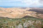 View from Mirador de Morro Velosa, top of Montaña Tegú (669m), Fuerteventura, Canary Islands, Spain