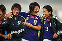 (L to R) Megumi Takase, Yuki Nagasato, Azusa Iwashimizu (JPN), September 11, 2011 - Football / Soccer : Women's Asian Football Qualifiers Final Round for London Olympic Match between Japan 1-0 China at Jinan Olympic Sports Center Stadium, Jinan, China. (Photo by Daiju Kitamura/AFLO SPORT) [1045]