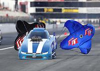 Nov 12, 2016; Pomona, CA, USA; NHRA top alcohol funny car driver Shane Westerfield during qualifying for the Auto Club Finals at Auto Club Raceway at Pomona. Mandatory Credit: Mark J. Rebilas-USA TODAY Sports