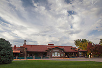 The Royal Gorge Route railroad station in Cañon City, Colorado.