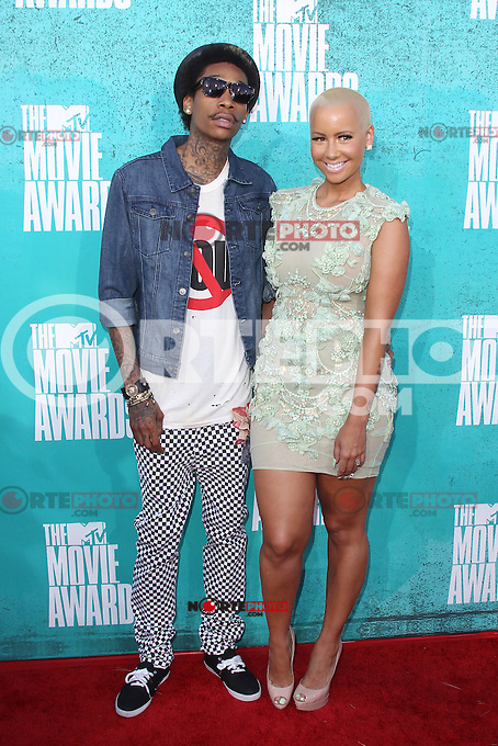 Wiz Kalifah and Amber Rose at the 2012 MTV Movie Awards held at Gibson Amphitheatre on June 3, 2012 in Universal City, California. ©mpi29/MediaPunch Inc.