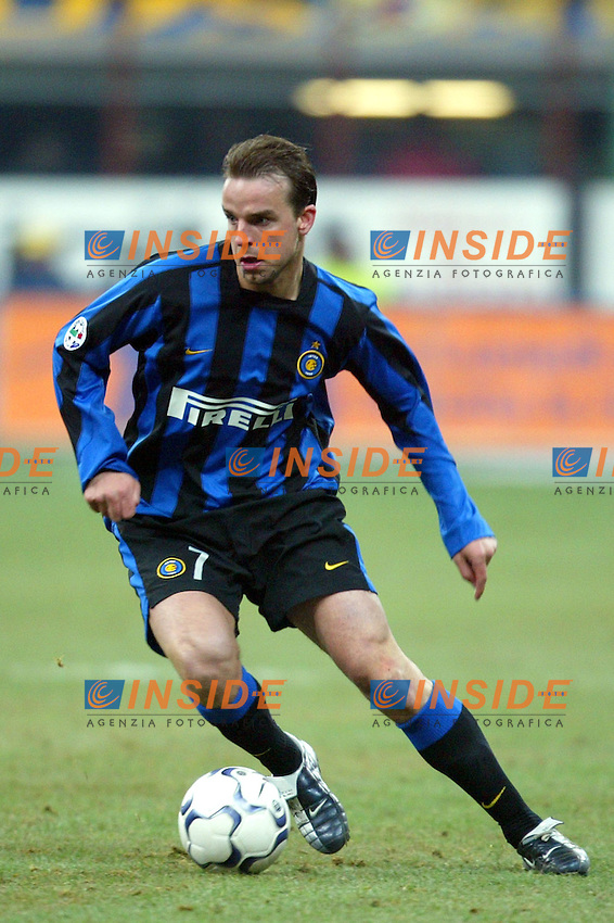 Milano 12/2/2004 Coppa Italia - Italy Cup - Semifinale <br /> Inter - Juventus 2-2 (6-7 after penalties) <br /> Andy Van Der Meyde (Inter)<br /> Photo Andrea Staccioli Insidefoto