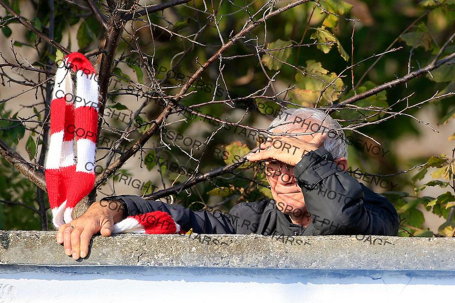 Fudbal Kup Srbije season 2015-2016<br /> Backa v Crvena Zvezda<br /> Delija navijac fans supporter<br /> Backa Palanka, 28.10.2015.<br /> foto: Srdjan Stevanovic/Starsportphoto&copy;