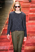 Marique Schimmel walks runway in an outfit from the Tommy Hilfiger Fall 2011 Bohemian Prep collection, during Mercedes-Benz Fashion Week Fall 2011.