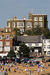 Broadstairs Kent UK. Bleak House Fort Road, above Viking Bay beach. Where Charles Dickens wrote his novel Bleak House.