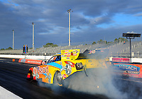 Jan. 17, 2012; Jupiter, FL, USA: NHRA funny car driver Jim Head during testing at the PRO Winter Warmup at Palm Beach International Raceway. Mandatory Credit: Mark J. Rebilas-