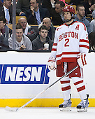 Ryan Ruikka (BU - 2) - The Northeastern University Huskies defeated the Boston University Terriers 3-2 in the opening round of the 2013 Beanpot tournament on Monday, February 4, 2013, at TD Garden in Boston, Massachusetts.
