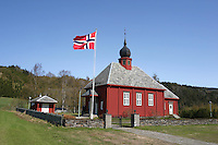 Flora kapell er ei langkyrkje fr&aring; 1936, Selbu kommune i S&oslash;r-Tr&oslash;ndelag. The church is build in timber and can take<br /> 140 people.