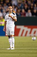 LA Galaxy midfielder Landon Donovan (10). The LA Galaxy defeated the Philadelphia Union 1-0 at Home Depot Center stadium in Carson, California on  April  2, 2011....