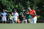 Robert Karlsson hits a shot on the 17th hole at the PGA FedEx St. Jude Classic at TPC Southwind in Memphis, Tenn. on Sunday, June 12, 2011. Harrison Frazar won the tournament on the third playoff hole against Robert Karlsson. The victory was Frazar's first ever on the PGA tour.