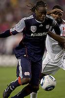 New England Revolution midfielder Shalrie Joseph (21). The New England Revolution defeated Toronto FC, 4-1, at Gillette Stadium on April 10, 2010.