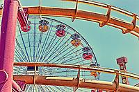 Santa Monica Pier and Amusement Park | HDR Style