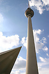 The Fernsehturm (Television Tower) on Alexanderplatz is the tallest structure in Gemrany and the second tallest structure in Europe. It contains the Tele-Cafe and a viewing platform. , Berlin, Germany