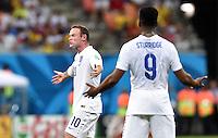 FUSSBALL WM 2014  VORRUNDE    Gruppe D     England - Italien                         14.06.2014 Sauer: Wayne Rooney (li) und Daniel Sturridge (re, beide England)