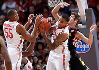 Ohio State Buckeyes forward LaQuinton Ross (10) grabs a defensive rebound in the first half of the college basketball game between the Ohio State Buckeyes and the Maryland Terrapins at the Jerome Schottenstein Center in Columbus, Wednesday evening, December 4, 2013. As of half time the Ohio State Buckeyes led the Maryland Terrapins 43 - 26. (The Columbus Dispatch / Eamon Queeney)
