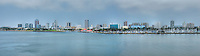 Long Beach, Southern California, USA, Shoreline Park, Marina, Waterfront Center, Panorama