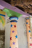 Pillar with stars. Thallaimattu Street.<br />