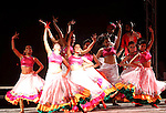Dancing Team participate in a ceremony of the third edition of the India by the Nile festival, in Cairo on March 31, 2015. The organizers said the focus was to get tourists to visit Egypt from India and the idea to bring aboard Bollywood actor Bachchan as the chief guest for the festival this year was designed to promote tourism between the countries. Photo by Amr Sayed