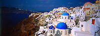 Village of Oia, island of Santorini, the Cyclades, Greece