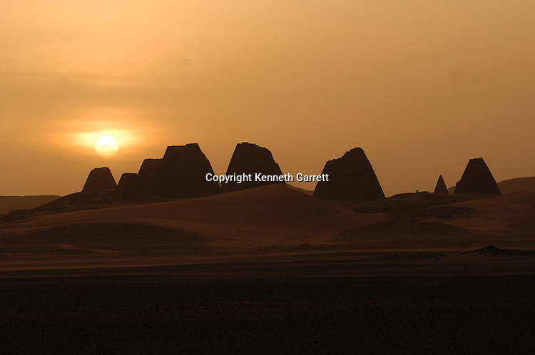 Meroe Pyramids; Sudan; Nubia; Black Pharaohs; Third Intermediate Period; 25th dynasty; Late Period; Greco-Roman Period; pyramid; Egypt; structure; desert.