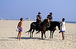 Police on horseback at Venice Beach, CA