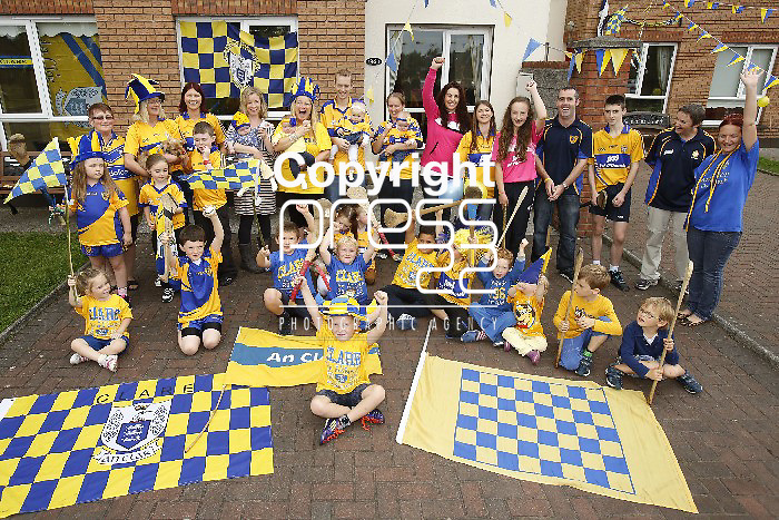 08/09/2013 Clare Fans Mary O'Conner, Emma Purcell and Grace Copley watch the All-Ireland Final on a Big Screen at Abbey Street, Ennis. Picture: Don Moloney / Press 22