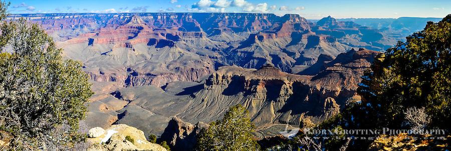United States, Arizona, Grand Canyon. Panorama view from Yaki Point.