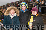 Edel Cronin Kieran Martin and Helena Martin, pictured at the AIB Munster Club SFC final Dr. Crokes v The Nire, Waterford,held in Mallow on Sunday last.