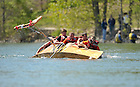 2010 Fisher Regatta, Knott boat capsizes...Photo by Matt Cashore/University of Notre Dame