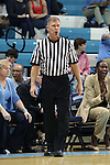 16 February 2017: Referee Tom Danaher. The University of North Carolina Tar Heels hosted the Ramblin' Wreck from Georgia Tech University at Carmichael Arena in Chapel Hill, North Carolina in a 2016-17 NCAA Division I Women's Basketball game. North Carolina won the game 89-88.