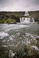 Waterfall Dynjandi, Arnarfj&ouml;r&eth;ur in the Westfjords, Iceland.