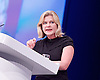Conservative Party Conference<br /> Manchester, Great Britain <br /> 4th October 2015 <br /> Day 1<br /> <br /> Justine Greening <br /> Secretary of State for International Development <br /> <br /> <br /> Photograph by Elliott Franks <br /> Image licensed to Elliott Franks Photography Services