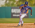 7 March 2013: Houston Astros infielder Delino DeShields hustles to third during a Spring Training game against the Washington Nationals at Osceola County Stadium in Kissimmee, Florida. The Astros defeated the Nationals 4-2 in Grapefruit League play. Mandatory Credit: Ed Wolfstein Photo *** RAW (NEF) Image File Available ***