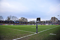 A general view of the Recreation Ground pitch during the match. European Rugby Champions Cup match, between Bath Rugby and Leinster Rugby on November 21, 2015 at the Recreation Ground in Bath, England. Photo by: Patrick Khachfe / Onside Images