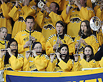 The University of Michigan mens ice hockey team lost to Alaska-Fairbanks, 5-4 , at Yost Ice Arena in Ann Arbor, Mich., on January 11, 2013.