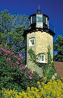 lighthouse on Lake Michigan shore, lighthouses. Whitehall Michigan USA.