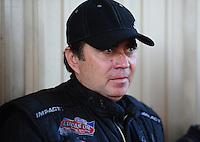 Jul. 24, 2011; Morrison, CO, USA: NHRA funny car driver Scott Palmer during the Mile High Nationals at Bandimere Speedway. Mandatory Credit: Mark J. Rebilas-