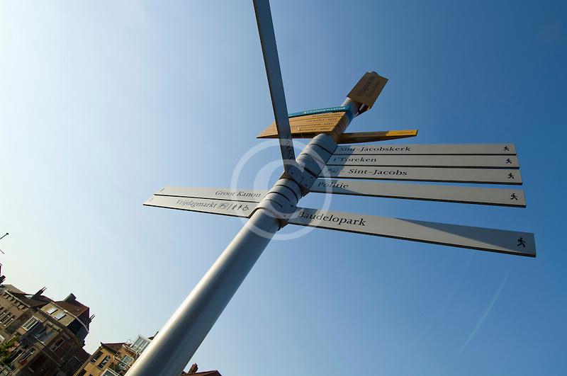 Belgium, Ghent, Signposts